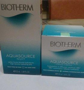 Biotherm aquasource крем и сыворотка