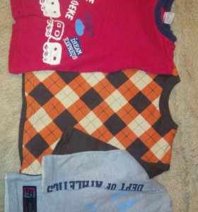 Пакет рубашек и толстовки 104-110 см на мальчика.