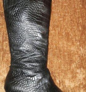 Шикарные кожаные демисезонные сапоги Hogl
