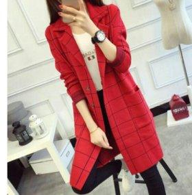 Вязаное пальто (кардиган) новое