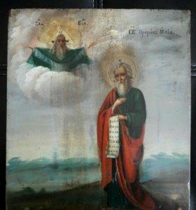 Икона Илья Пророк 19 век.