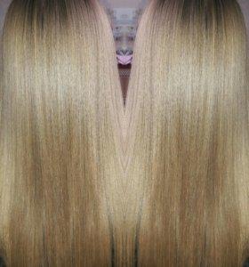 Кератиновое выпрямления волос.
