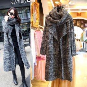 Вязаное пальто/кардиган
