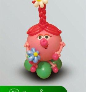 Нюша, Крош, Смешарики из воздушных шаров