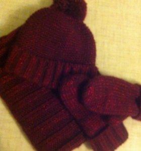 Комплект: шапка снуд и варежки
