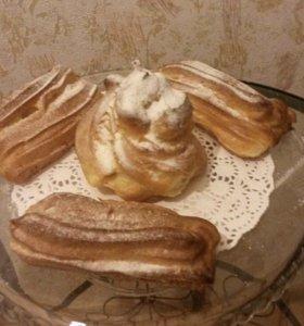 Заказ тортов красный бархат, пахлава,эклер,ирис