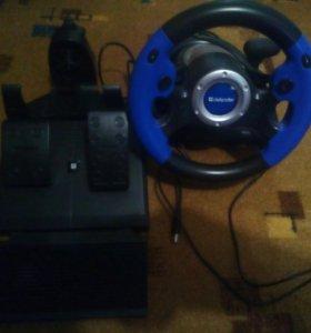 Игровой руль+педали+АКПП