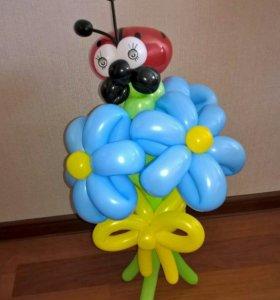 Букетик из воздушных шаров