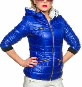 Яркая синяя куртка 54-56 рр