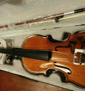 Эксклюзивная скрипка 4/4 с изображением Бетховена