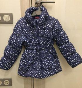 Куртка утеплённая для девочки на 3-4 года Fururino
