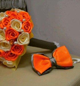 Замечательный букет невесты и бабочка