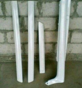 Накладки на двери и порог для ваз 2114-15