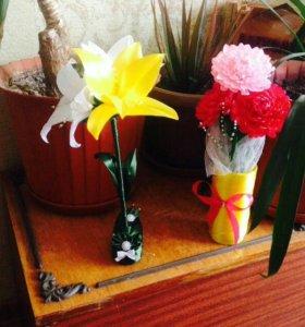 Букеты, корзины цветов