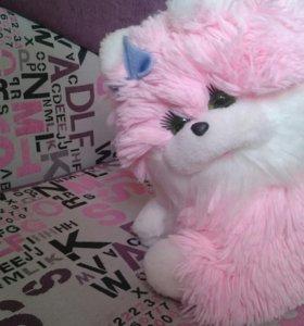 Розовая плюшевая кошка 😻🌸