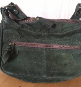 Сумка зелёная, дамская сумочка