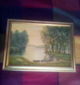 """Картина """"Утро на реке"""""""