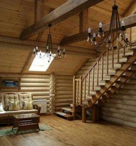 Отделка деревянных домов (фасады и внутрянка)