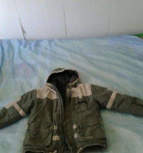 Куртка зимне весенняя на мальчика 7-10лет
