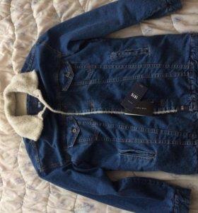 Джинсовая меховая куртка