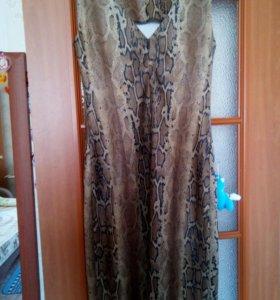 Костюм платье- болеро под змеиную кожу