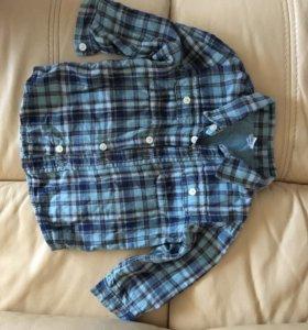 Супер-Рубашечка на подкладке фланелевая