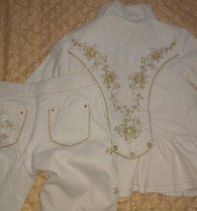 Костюм детский, штаны и пиджак для девочки