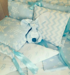 Комплект детского постельного белья, бортики