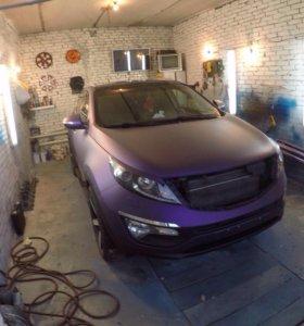 Покраска автомобиля жидкой резиной (Plasti Dip)