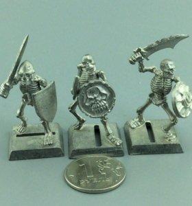 Скелеты рыцари, оловянные
