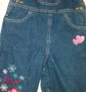 Комбез джинсовый флис