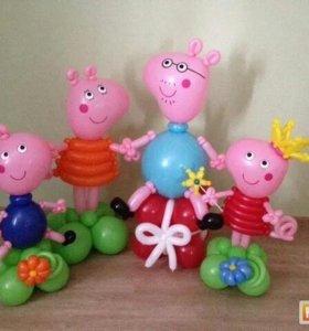 Свинка Пеппа с семьёй