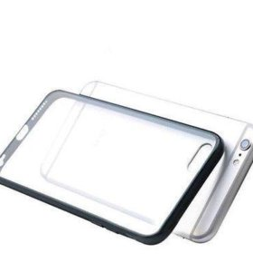 Бампер с крышкой для iPhone 7 Plus силикон