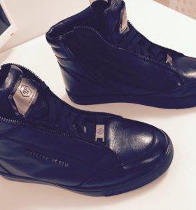 Ботинки с мехом(натуральная кожа)