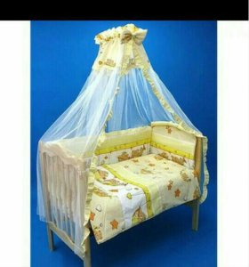 Балдахин в кроватку и крепеж .