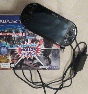 Игровая консоль PS Vita + 5 игр
