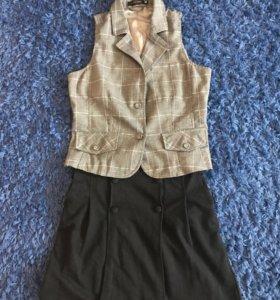 Комплект юбка и жилетка