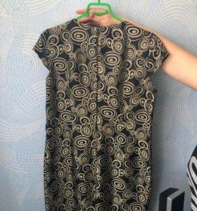 Платье футляр с атласным пиджаком