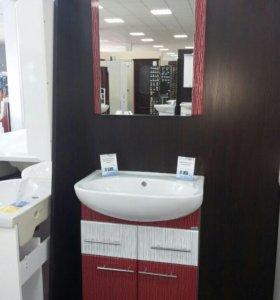 Зеркало, тумба и раковина для ванной