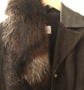 Замшевая куртка-пиджак