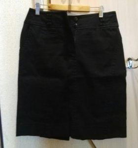 Юбка классическая джинсовая 46 размер