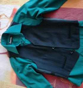 Рубашка+жилетка р.110