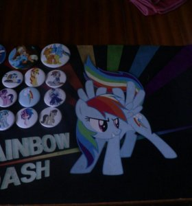 Значки и плакат My Little Pony/Мой Маленький Пони