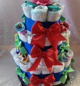 Торт из памперса
