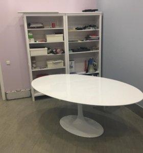 Новый белый овальны стол Eero Saarinen Tulip Table