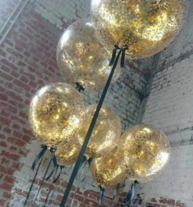 Гелиевые шары с конфети и блестками