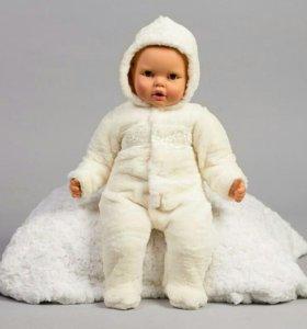 Комбинезон с капюшоном для новорожденного.