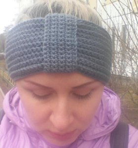 Повязка,шапка Handmade на голову, вязание на заказ