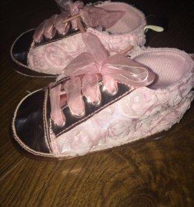 Мягкие туфельки  для принцессы