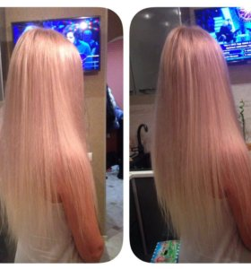 Наращивание волос, коррекция, окрашивание